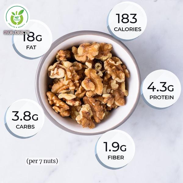 Giá trị dinh dưỡng từ hạt óc chó
